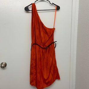 MICHAEL Michael Kors Orange One Shoulder Dress XL